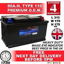 110 New Genuine OEM Heavy Duty Car Battery - Type 110 85ah 4 YEAR GUARANTEE 24HR