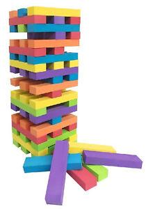 60 Blocks Giant 1.2m EVA Foam Tumbling Tower Indoors & Garden Jenga Family Game