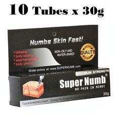 10 X 30g Super Numb skin numbing cream painless piercings waxing laser sex Dr