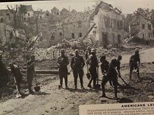 m6-9e ephemera 1918 picture american troops chateau thierry road repairs