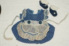 "Original Vintage Blue White Nanette Arranbee Dress Shoes For 14"" Vintage Doll"