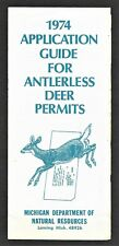 1974 Michigan Department of Natural Resources - Application for Antlerless Deer