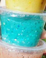 Dazzling Metallic/Holographic crunchy glitterclear3slime pots variousoption gift