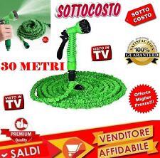 TUBO ESTENSIBILE FLESSIBILE GIARDINO PISTOLA GIARDINAGGIO CASA 30 MT MAGIC HOSE