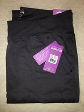 New Purple Label Yoga Tori 9133 Pewter Scrub Pants Healing Hands 5 Pocket Xl