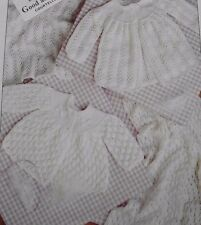 KNITTING PATTERN - 2 STYLES OF BABY LACY MATINEE COATS & SHAWLS IN 3-PLY & 4-PLY