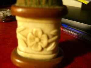 rare carved antique (1914) needle box