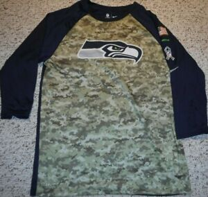 SEATTLE SEAHAWKS SALUTE TO SERVICE TEAM ISSUE DRI-FIT ON FIELD APPAREL PULLOVER