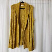EST. 1946 Sleeveless Cardigan Crochet 18/20W Open Long Sweater