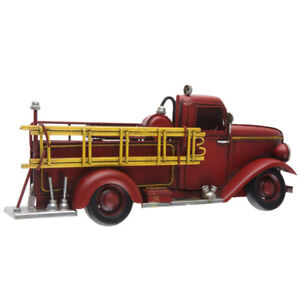 Fire Truck Metal Wall Decoration Home Office Decor Man Cave