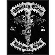 More details for official licensed - motley crue - hollywood sew on patch rock metal