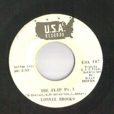 LONNIE BROOKS The Flip MEGA RARE  funk 45 northern soul VG+ WLP LISTEN!