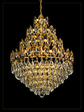 ROYAL CHANDELIER 6 ILLUMINATES 4 FLOORS REAL CRYSTALS Matching wall lights avail