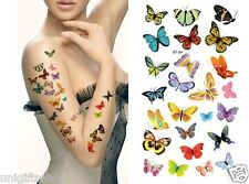 Supperb Temporary Tattoos - Sexy Butterflies Elegant Temporary Tattoo