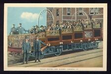 Sight Seeing Car Quebec Canada Trolly Car Tourists Conductor Vintage Postcard