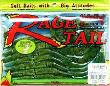 Strike King Rage Tail Green Pumpkin Sapphire Recon Worm Soft Fishing Lures