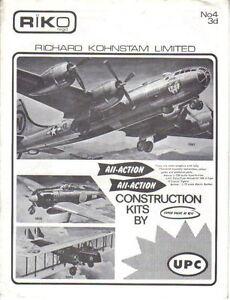Riko All Action No 4 original Catalogue Construction Kits Aircraft Military +