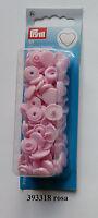 Herz Druckknöpfe Color Snaps 393318 rosa 12,4 mm Prym nähen stricken Knopf