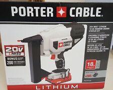 Porter Cable 20V Li-Ion Cordless 18 Gauge Narrow Crown Stapler PCC791LA LEDLight