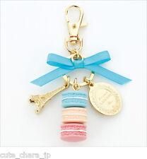 Japan 0093 Accessories LADUREE Key Chain Ring  Mint Blue Original boxed Kawaii