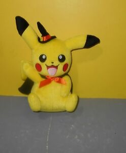 "9"" TOMY Official Pokemon Sun & Moon HALLOWEEN Witch Pikachu Plush"