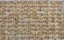 Wholesale Mixed Lots 50pcs Clear Rhinestone Women Rings Fashion Jewelry