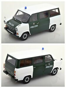 1/18 Kk Scale Ford Transit Bus Police 1965 Green New IN Box Free Shipping Home