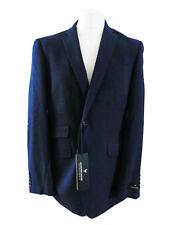 BNWT Mens John Partridge Blue Wool Prom Bird's Eye Nailhead Suit 42R Jacket