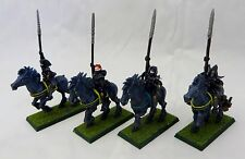 Warhammer Dark Elf Dark Riders 4 painted table ready no tails