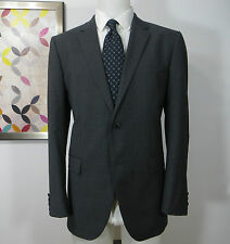 Hugo Boss Recent Wool grey striped The Grand/Central suit Flat Front pants 42 R