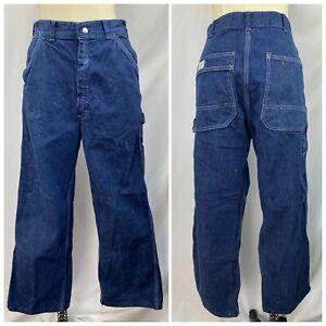 "Vintage Late 50s/early 60s Hercules Carpenter Jeans 29.5"" Waist Dark Denim"