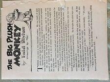 M17b ephemera 1950s short story the big plush monkey  enid blyton