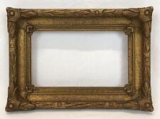Antique Early 20th C Barbizon Baroque Dutch Gold Frame 3 3/8 x 5 3/8 Opening