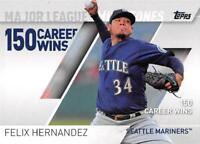 2017 Topps Major League Milestones Baseball Cards Pick From List