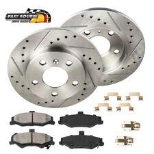 For 2011 - 2013 Dodge Durango Grand Cherokee Rear Brake Disc Rotors Ceramic Pads