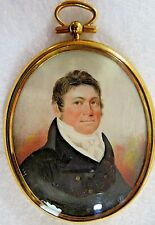 18th Century, Miniature Portrait of a Man with Photographic Painting Technique 2
