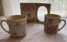 Lot Of 3 Enesco 1991 Lucie Attwell Ltd Frame & 3 Child's Mugs Made In Japan