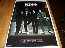 Kiss Dressed To Kill Poster 22 x 34 VERY COOL LP COVER POSE W/ Black Background