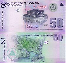 Nicaragua Central America 50 Cordobas Unc 2009 p-203