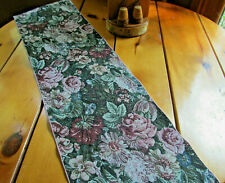 """Table Runner Dining Kitchen Home Decor Linens Floral 73"""" X 11.5"""" Green Pink"""