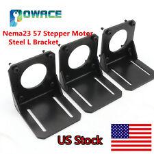 Usa3pcs Nema23 Stepper Motor Steel L Mount Bracket Cnc Holder Support With Screw