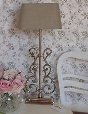 Tischlampe Klara XLTischleuchte Nickel Metall Schirm E27 Leinen Farbe Sand H60cm