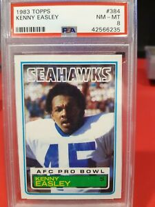1983 Topps Kenny Easley RC PSA 8 NM-MT Seattle Seahawks #384