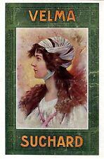 Suchard Velma (Schokolade) Frauen- Porträt- Motiv XXL-Farb-Annonce v.1909