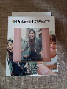 Polaroid Window Cover Photo Album 64-Pocket Pink For 2x3 Prints 16 Pages NEW