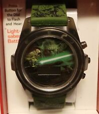 Star Wars Yoda Jedi Boys Watch holographic digital dial NEW battery not included