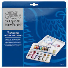 Winsor & Newton Cotman Water Colours Palette Set 10 Water Color Tubes & Mix Tray
