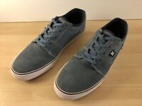 DC Mens Size 12 Sneakers Skate Shoes Light Blue Suede/Canvas White Trim