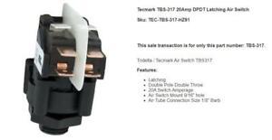Tecmark TBS-317 20Amp DPDT Latching Air Switch TBS317