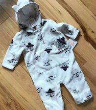 NWT CAT WITCH One Piece SOFT FLEECE Hooded HALLOWEEN Outfit 6 Month Infant